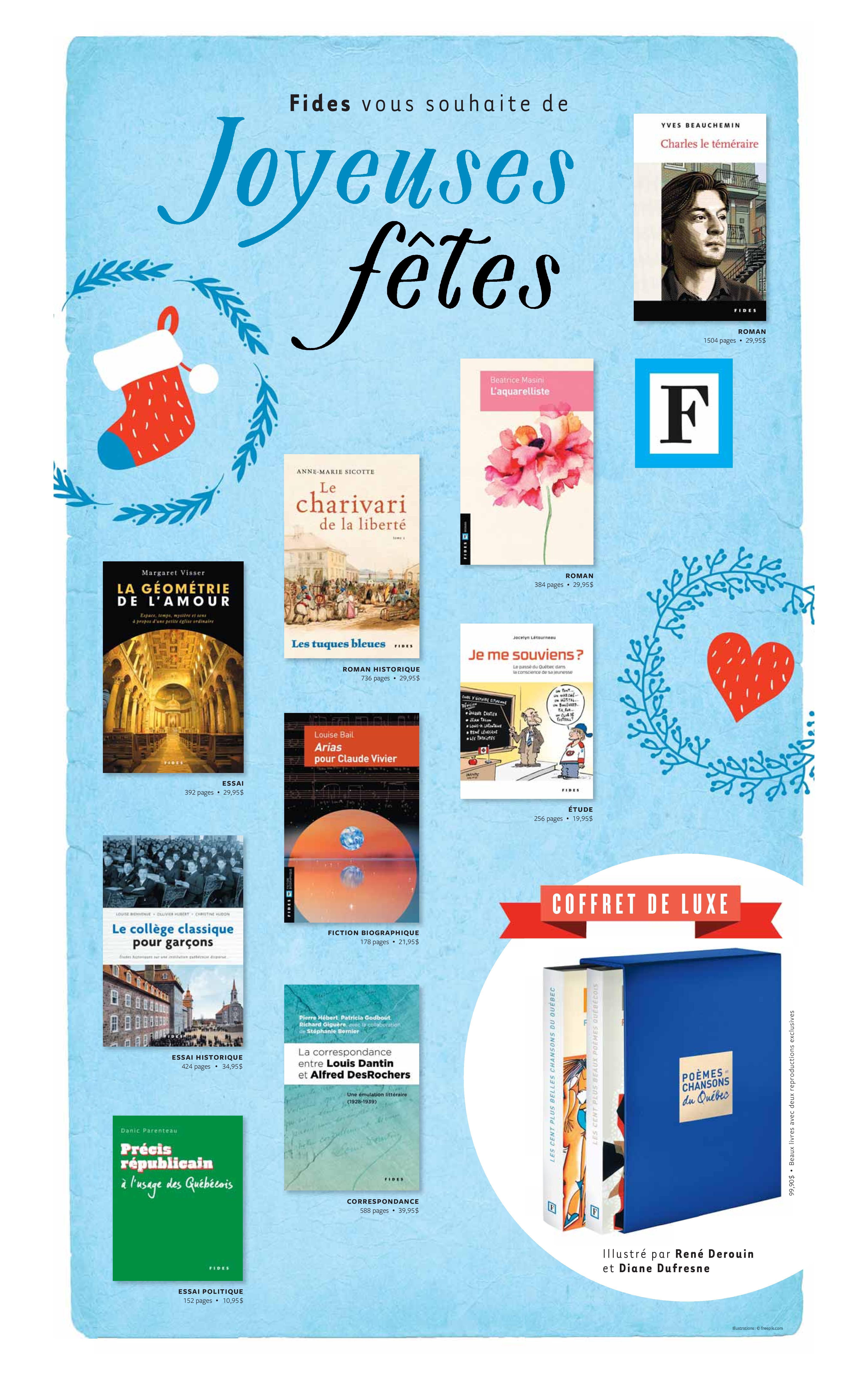 Les Éditions Fides vous souhaite de Joyeuses fêtes