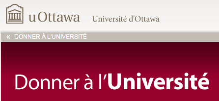 Donner à l'Université d'Ottawa