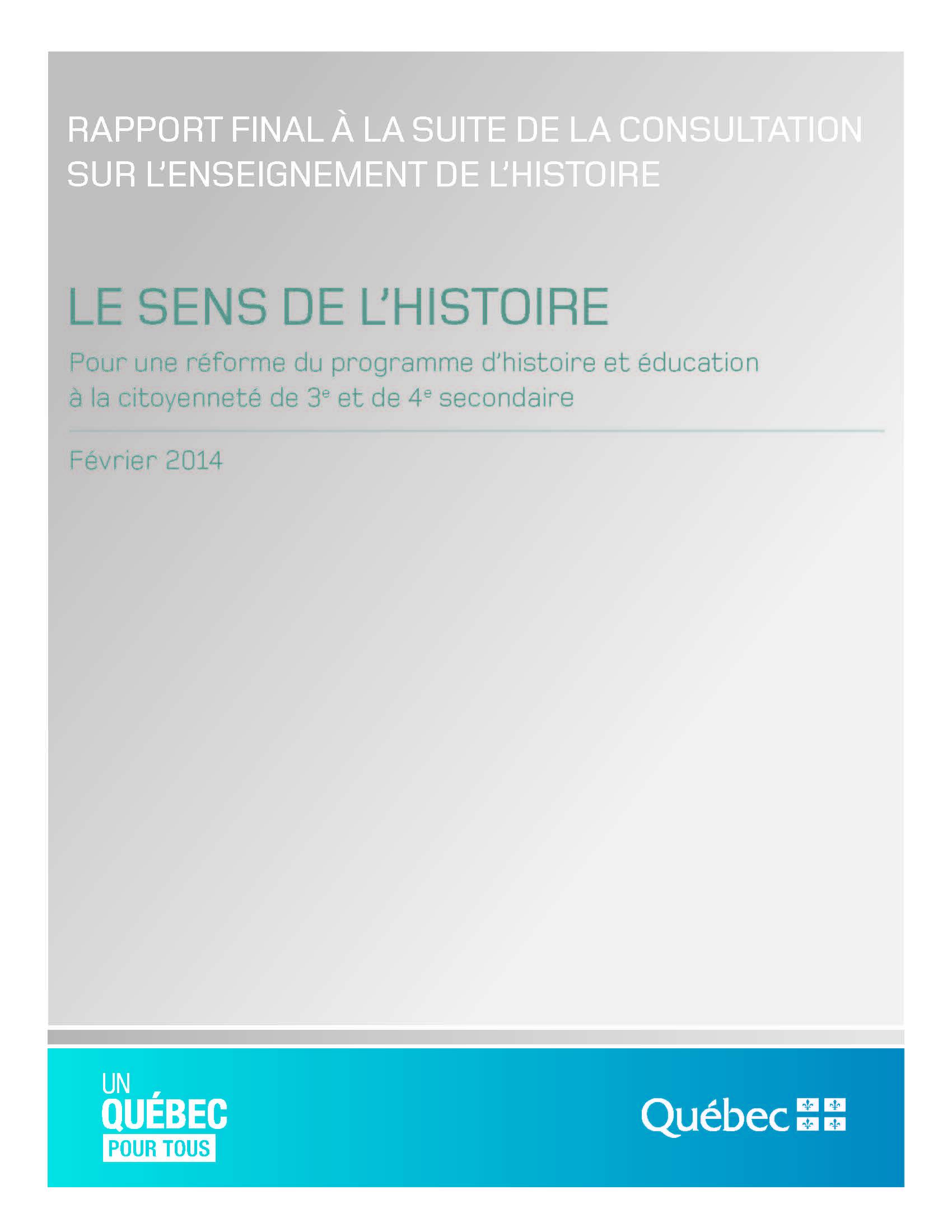 Cliquer sur l'image pour écouter une entrevue au sujet du rapport Beauchemin
