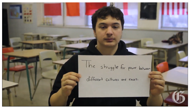 English high school history students summarize Quebec history in one sentence, at the John F. Kennedy High School in Montreal, Friday, February 21, 2014. (Marie-France Coallier / THE GAZETTE)