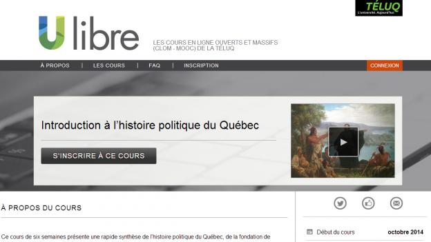 Introduction à l'histoire politique du Québec Éric Bédard TELUQ