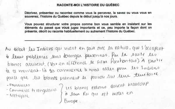 raconte moi l'histoire du Québec Jocelyn Létourneau