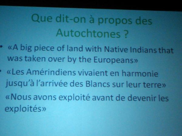 Que dit-on à propos des Amérindiens?