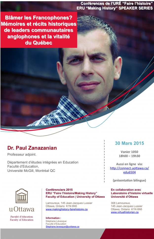 Paul Zanazanian Université Ottawa