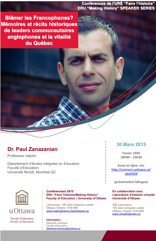 Paul Zanazanian Université Ottawa